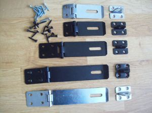 Safety Hasp And Staple Black Or Galvanised In 3 Sizes